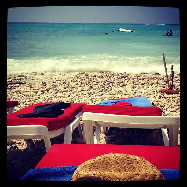 beach time again sun water ocean waves sound relaxation mode on tan...
