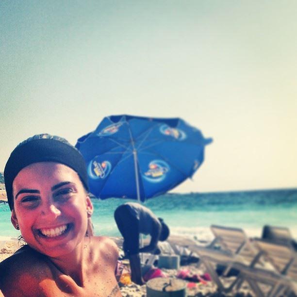 smile hearty deep beach friday tan tanning batroun lebanon pose picture...