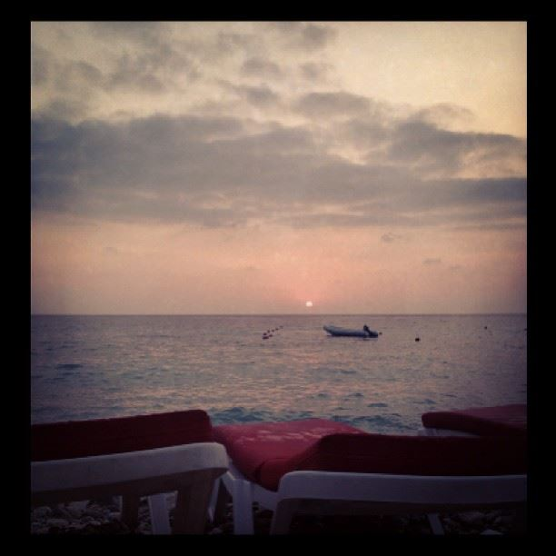 sunset watching view splendid mood relaxed sound of waves crashing in...